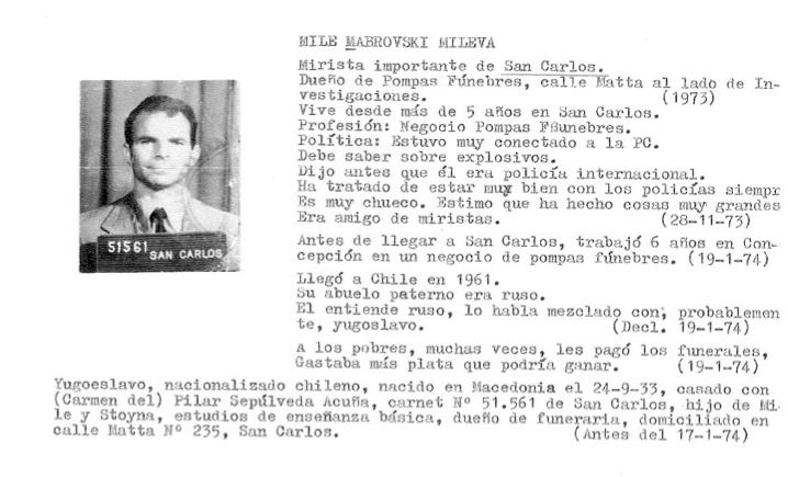Politische Häftlinge in der Colonia Dignidad – der Fall Mile Mavroski