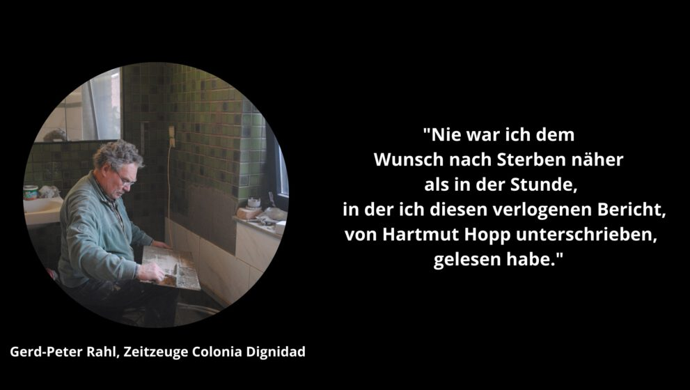 Peter Rahl über seine Erinnerungen an Colonia Dignidad-Arzt Hartmut Hopp